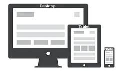 An icon of a desktop, tablet and a smartphone