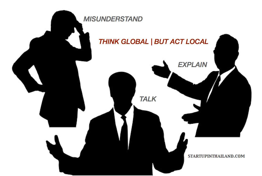 An icon of a three men in suit with different gestures, one is putting his hand on forehead in the left, one is explaining in the right and man in the middle hands wide open