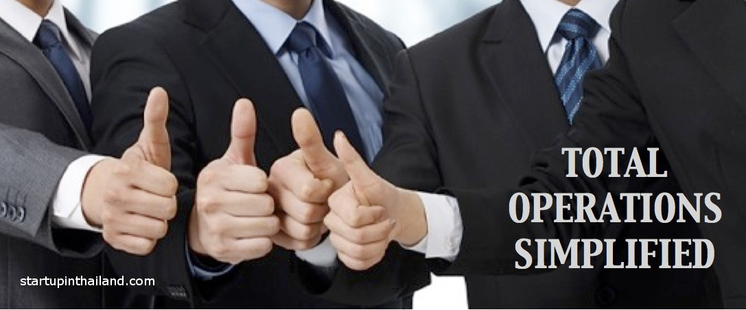 Four men wearing business suits showing a thumbs up but no facial recognition
