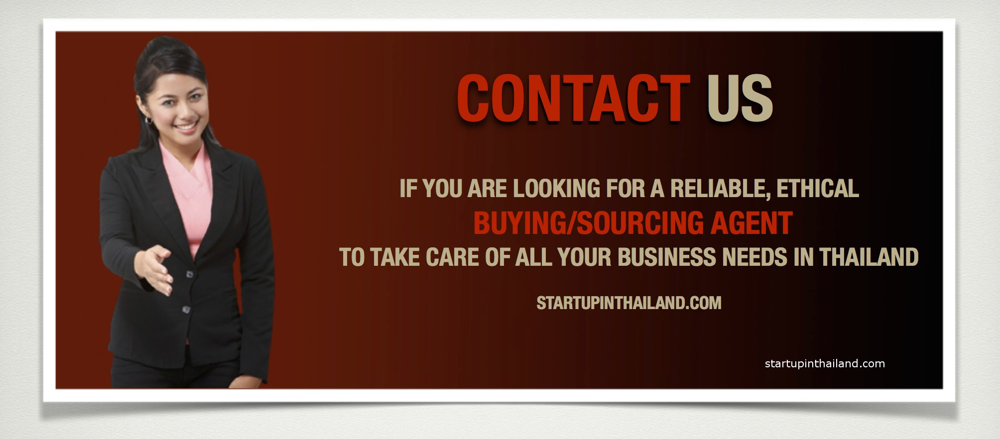 Representative and Buying Agent | StartUp in Thailand