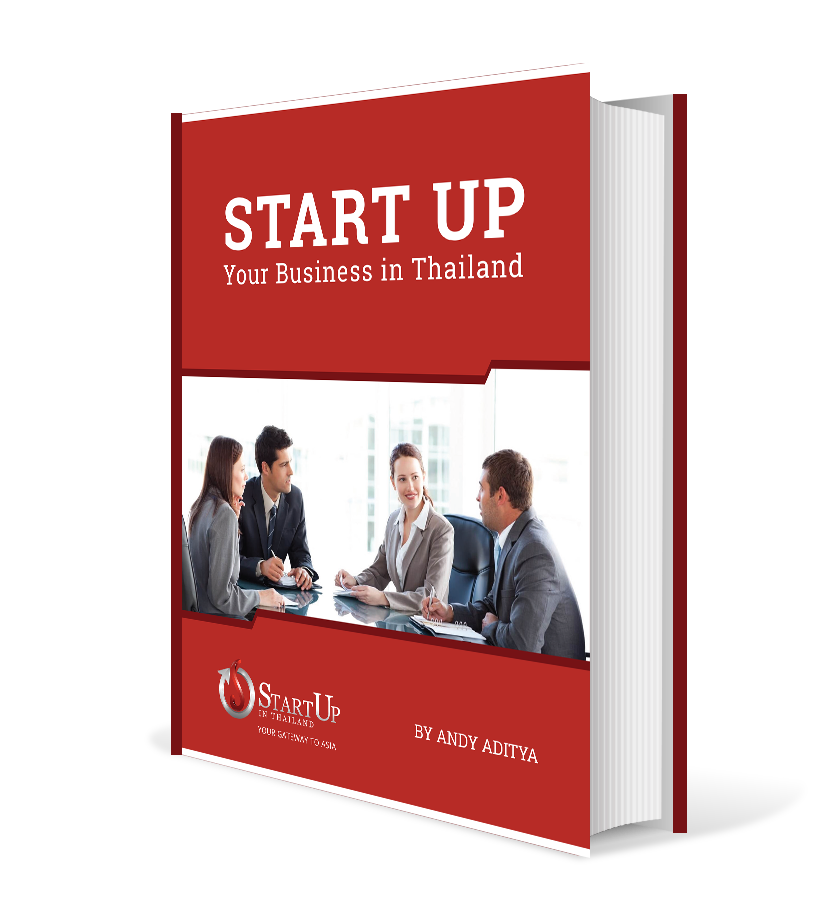 A book for startup guide in red cover